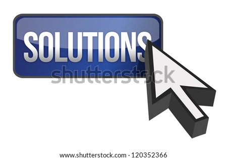 solutions button illustration design over a white background