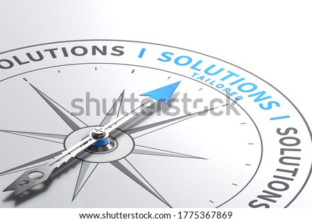 Solutions or Offers. Made-to measure Services. 3d illustration Stock photo ©