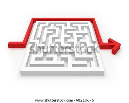Solved Maze Puzzle - see more in portfolio