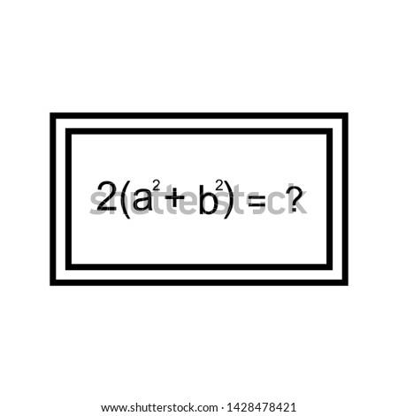 Solving formula Beautiful line black icon