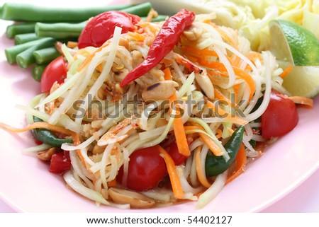 Som tam, Papaya salad,Thai cuisine