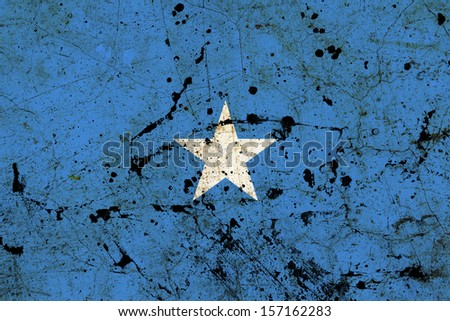 Somalia dirty old grunge flag  - stock photo
