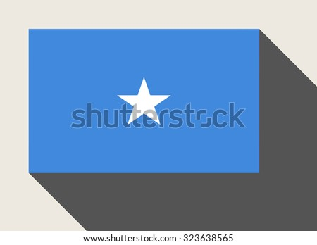 Somalia flag in flat web design style. #323638565