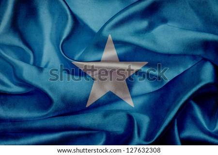 Somalia grunge waving flag