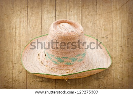 sombrero hat on the vintage background