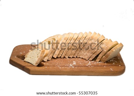 some bread on the board
