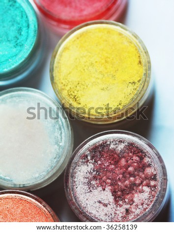 some bright eyeshadows of different colors