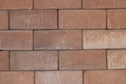 Some brown block bricks. Using as background or wallpaper