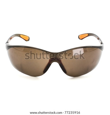 Some brown unisex sunglasses isolated over white