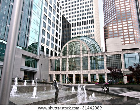 Some buildings from Uptown Charlotte North Carolina