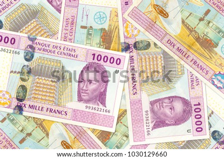 some 10000 central african CFA franc bank note obverse #1030129660