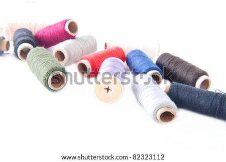 some colorful bobbins
