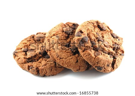 Some cookies isolated on a white background.