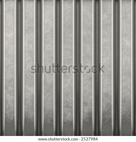 Some corrugated metal / building material with vertical ridges - a great background texture.