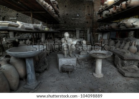 Some details of the excavations of Pompeii in HDR