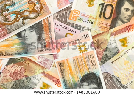 some different 10 Pounds Sterling banknotes issued by Scottish Banks #1483301600