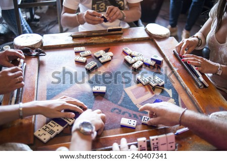 some domino players on the old...