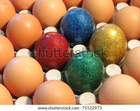 Some eggs on tray