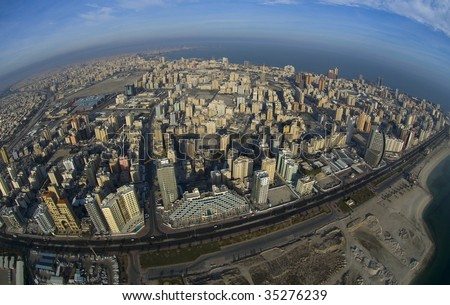 Some famous places in Kuwait shooting from the sky