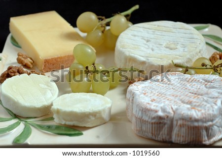 Some fine french cheese : St Felicien, Comte, goat's cheese...