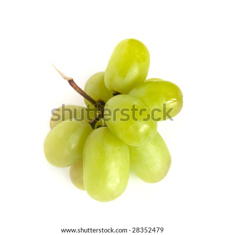 some green grape isolated on white background