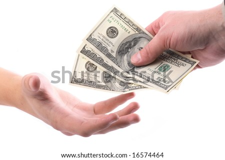Some hands  a lot of dollars