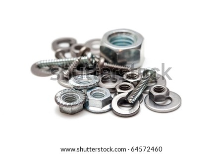 Some hardware isolated on white