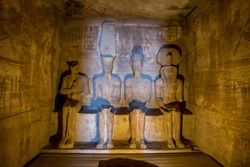 Some interior Details of the Abu Simbel Temple