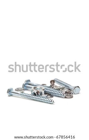 Some iron hardware isolated on white