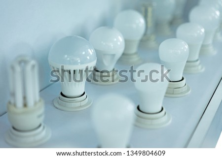 some led lamps light science technology background #1349804609