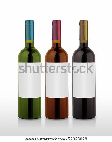 some nice wine bottles