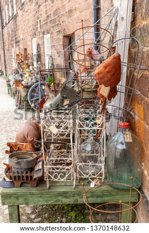 Some of the antiques on display, at Cromford mill, Derbyshire, England. #1370148632