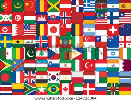 some of world flags icons background