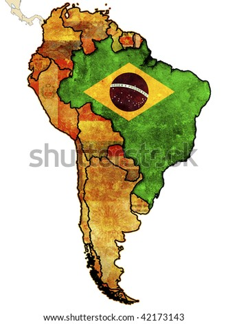 some old grunge political map of brazil