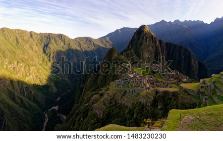 Some panoramas of the Machu Picchu at sunrise #1483230230