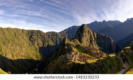 Some panoramas of the Machu Picchu at sunrise #1483230233