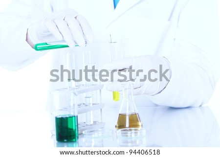 Some science research in laboratory