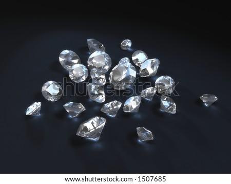 some shiny diamonds