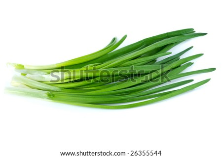 Some spring onion isolated on the white background
