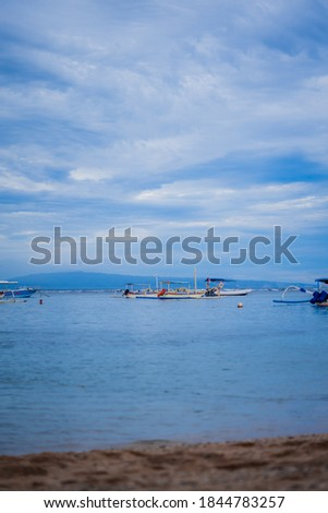 some traditional boats in Bali that are ready to be used to catch fish in the morning Stock fotó ©