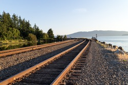 some train tracks round the bend