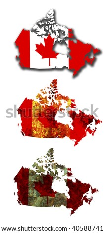 some very old grunge flag and territory of canada