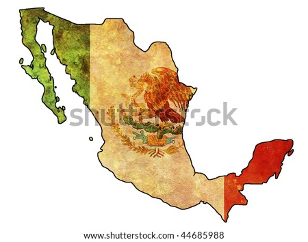 some very old grunge flag of mexico