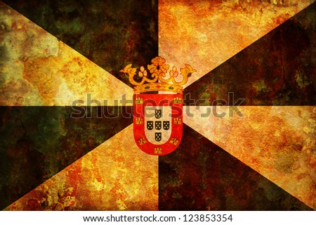 some very old vintage flag of ceuta