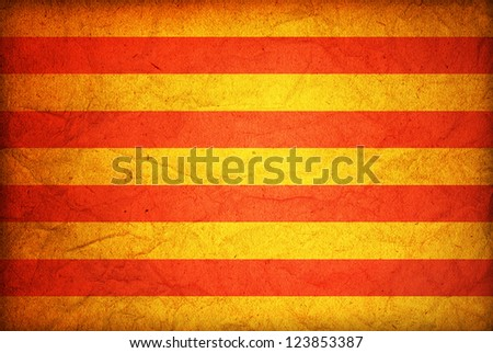 some very old vintageflag of catalonia