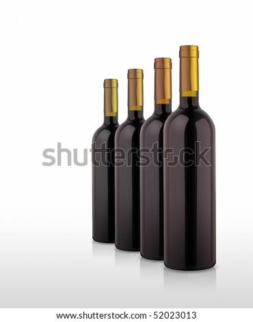 some wine bottles