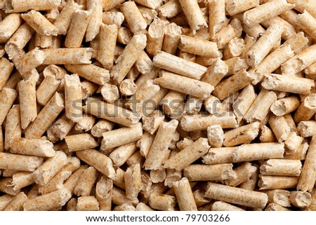 some wood pellets forming a background pattern