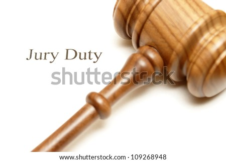 Someone has been selected for jury duty in the legal system. - stock photo