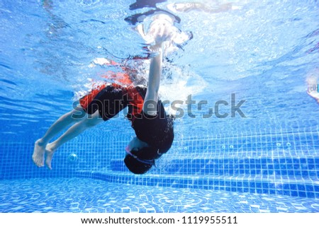 somersault Lady  Diving in the pool #1119955511