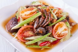 Somtum, papaya salad delicious food in thailand